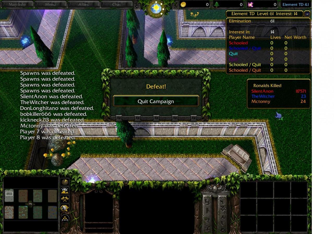117571 Ronalds killed    - WarCraft 3 - EleTD com